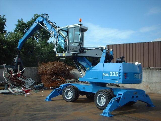 Terex-Fuchs MHL335D afgeleverd in Zegveld bij P.E Vianen Handelsonderneming