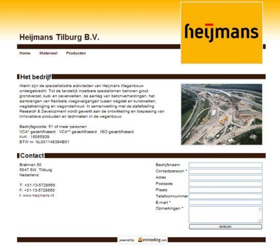 Voorbeeld bedrijfspresentatie Heijmans Tilburg