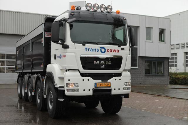 MAN TGS 49.440 10x8 kieper voor Transcowa uit Waardenburg