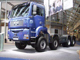 De nieuwe TGA 8x8 met 480 pk motor