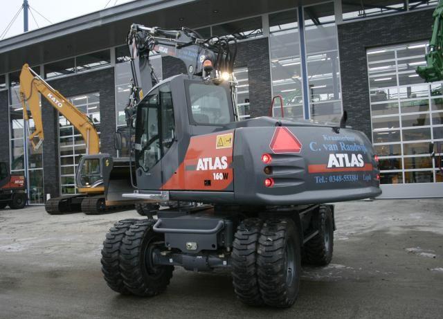 Atlas 160W mobiele graafmachine C. van Randwijk uit Lopik