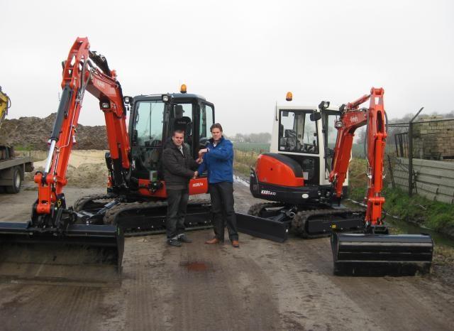 Kubota KX91-3GL en KX057-4GL voor Manders Machine Verhuur uit Schaijk
