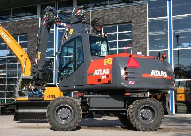 Atlas 160W mobiele graafmachine voor Van Dijk uit Hoogland