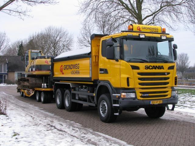 De nieuwe Scania G400 XPI 6x6 van Grondweg B.V. in Lochem