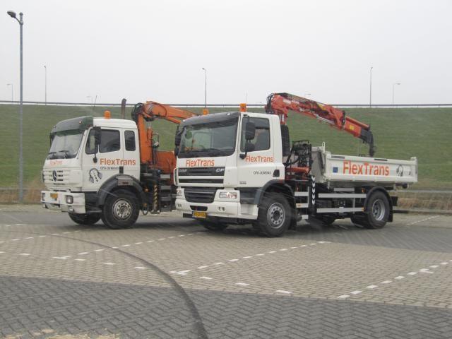 Daf CF 75 4x2 kraanauto voor Flextrans uit Leidschendam