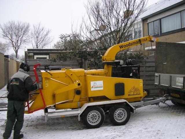 Gestolen Woodsman 12MX versnippermachine van Groenprojecten Madestein uit Monster