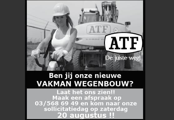 20 augustus sollicitatiedag bij ATF te Zandvliet