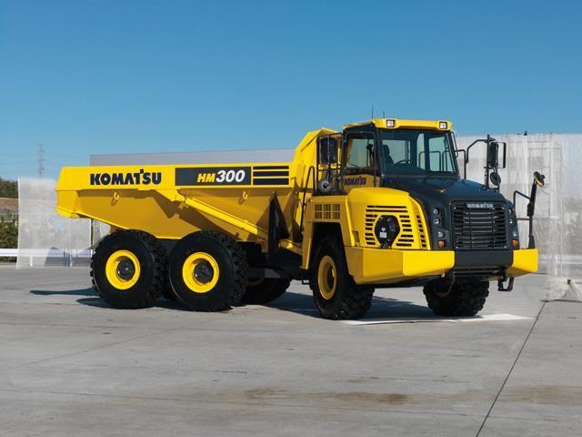 Nieuwe Komatsu HM300-3 knikdumper