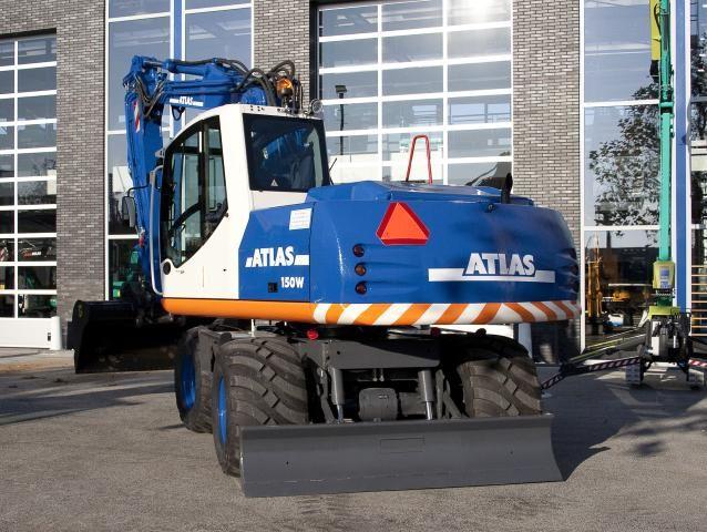 Atlas 150 W mobiele graafmachine voor John Bunnik uit Zegveld