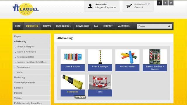 Nieuwe website van Alkobel