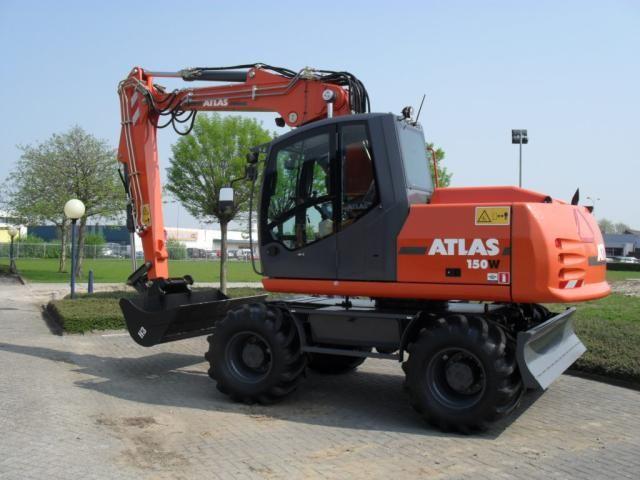 Atlas 150W mobiele graafmachine  in verhuurprogramma Hans van Driel Rental