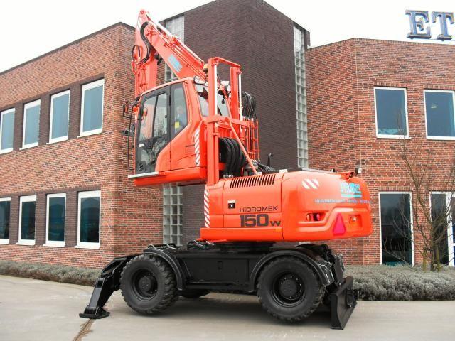 Hidromek HMK 150 W mobiele overslagkraan voor Reijm in Nieuwerkerk