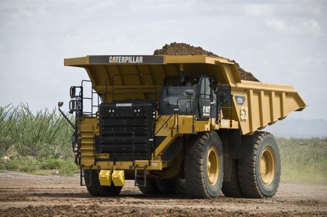 De nieuwe Cat® 777G dumptruck met VS-certificaat emissiewaarden voor Tier 4f