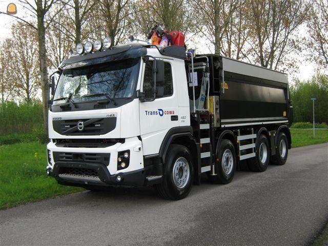Volvo FMX 420 EEV 8X4 WS voor Transcowa uit Waardenburg