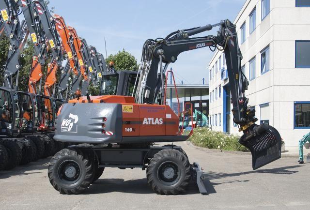 Atlas 160W mobiele graafmachine voor W.G. Donselaar Leerdam