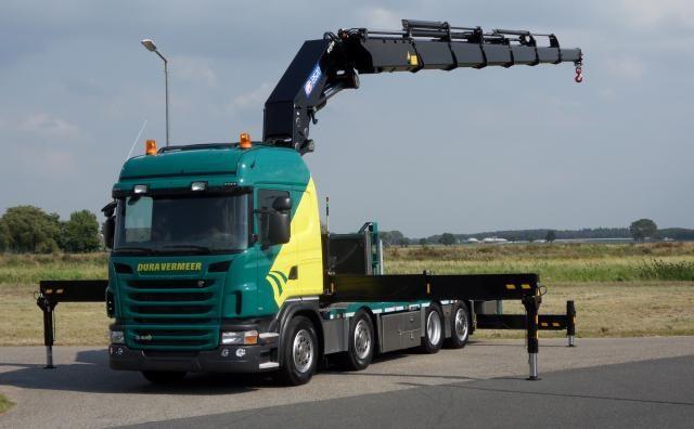 Twee nieuwe vier-assige Scania G-series in Euro 6 uitvoering voor Dura Vermeer