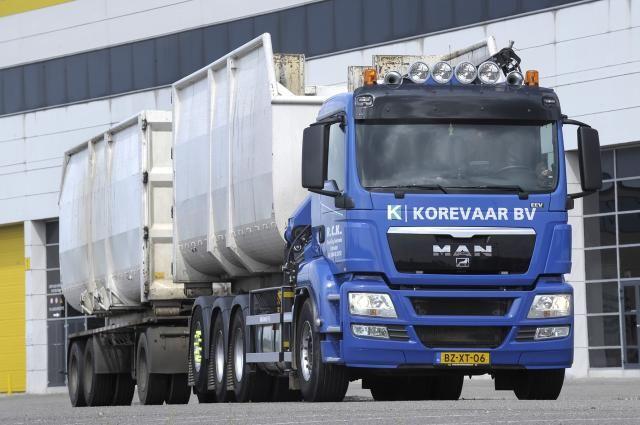 MAN TGS 35.440 BL 8x4-4 voor Recycling Centrale Korevaar BV te Groot-Ammers