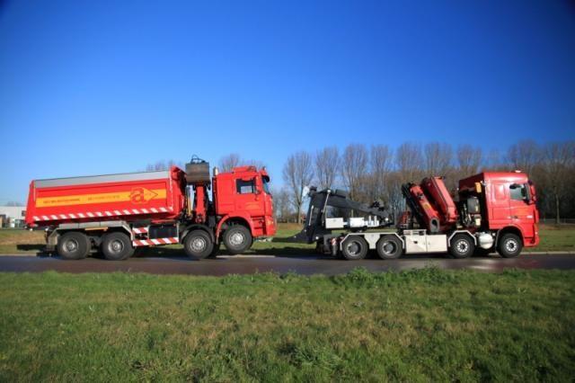 DAF FAD XF105 8X4 Euro 5 met afneembare lepelinstallatie voor ADJ Milieutechniek uit Werkendam