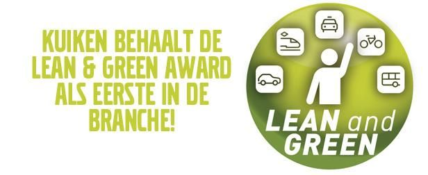 Kuiken behaalt de Lean & Green Award als eerste in de branch!