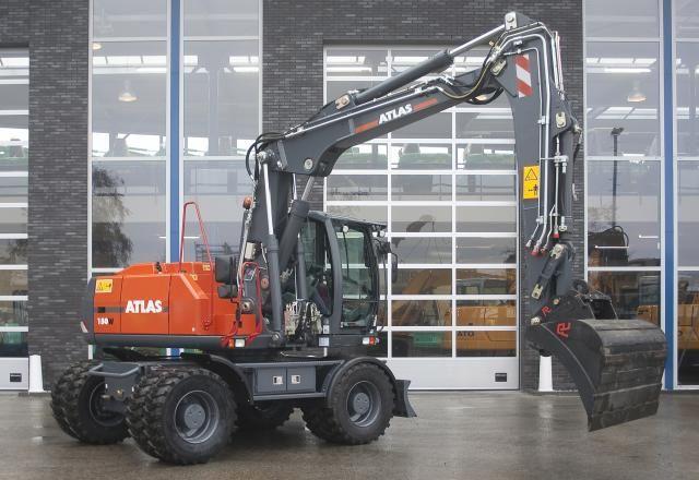 Atlas 150W mobiele graafmachine voor Izaak Baelde uit Groenekan