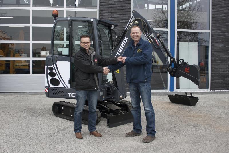 TEREX TC16 voor hoveniersbedrijf