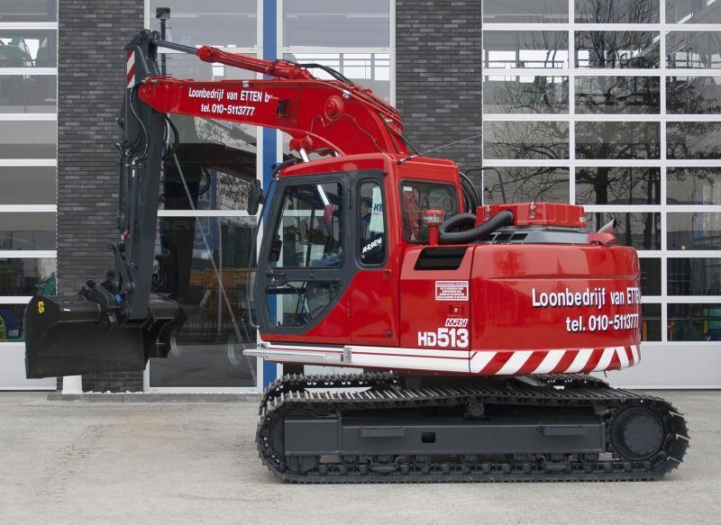 KATO HD513MR-V rupsgraafmachine voor Loonbedrijf Van Etten B.V. uit Berkel en Rodenrijs