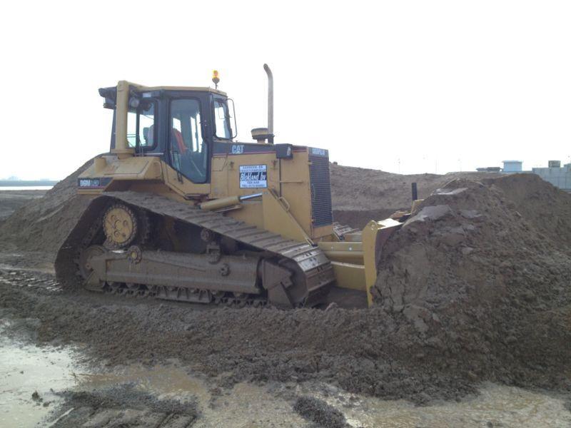 Caterpillar D6M bulldozer voor Blokland uit Ter Aar