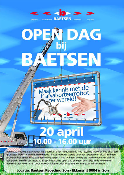20 april Open Dag bij Baetsen Recycling Son