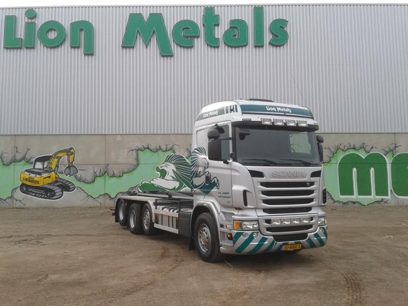 Fraaie nieuwe Scania R 480 Euro 6 vier-asser voor Lion Metals in Rotterdam