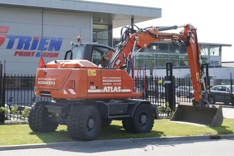 Atlas 160 W mobiele graafmachine voor Wagemakers uit Oudenbosch