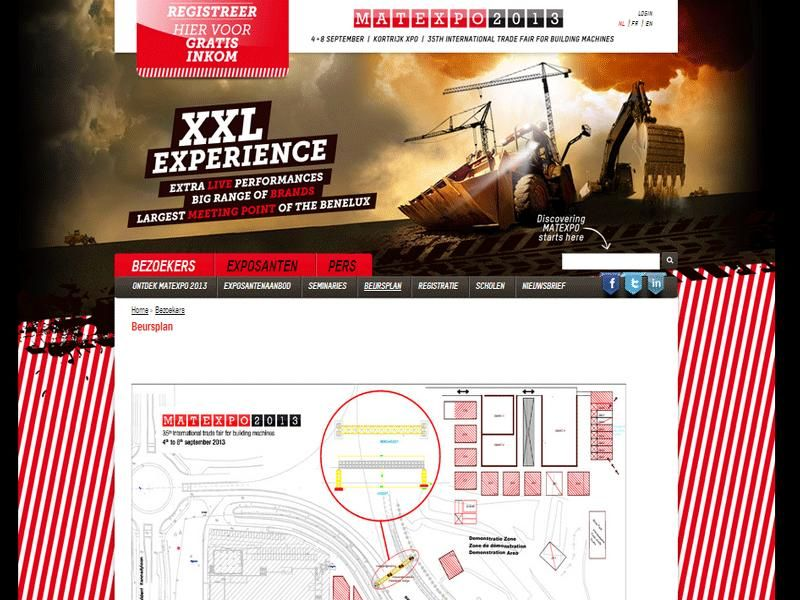 Meer dan 135.000 m² expo ruimte in editie Matexpo 2013