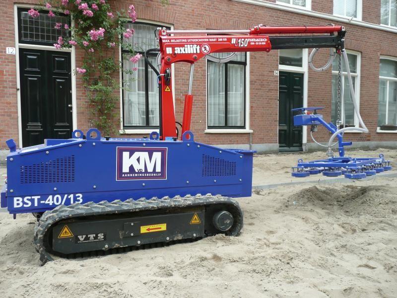 Bandensteller op rupsen voor KVDM uit Bleiswijk