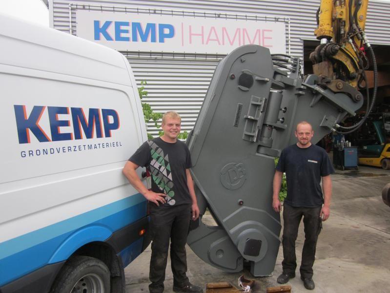 Kinshofer spoorrailschaar voor Kemp Hamme