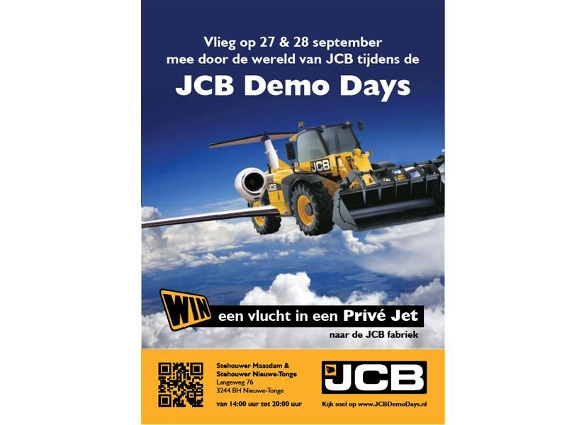 Stehouwer's JCB Demo Days op 27 & 28 September