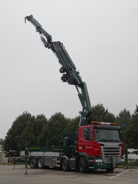 Scania G 440 kraanauto van Meeuwenoord uit Noordwijkerhout