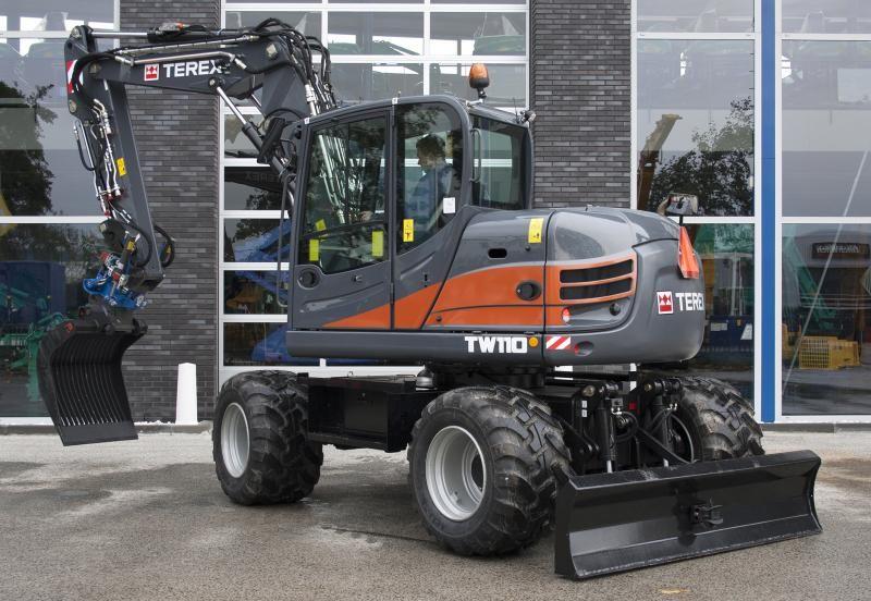 Terex TW 110 bandenkraan voor Van Dijk Hoogland