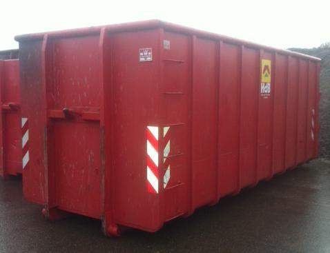 Vergelijkbare 30M3 rode Vossenbelt container