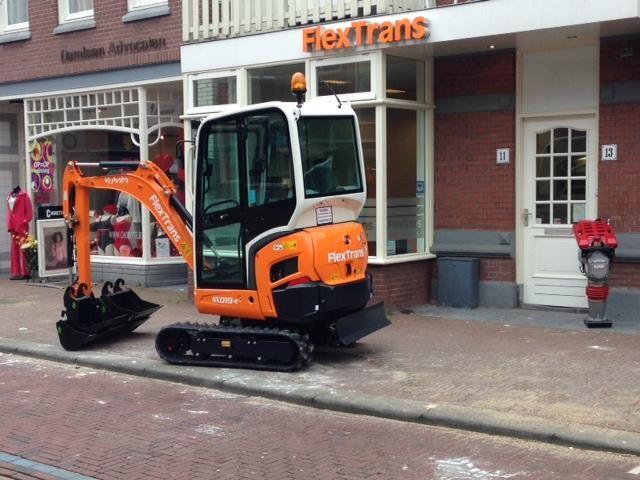 Kubota KX019-4 minigraver voor Flextrans uit Leidschendam
