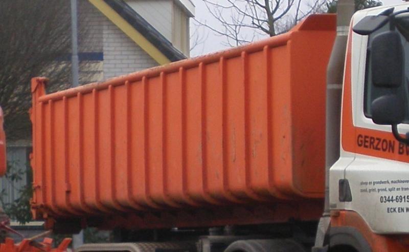 oranje gestolen 20 m3 container
