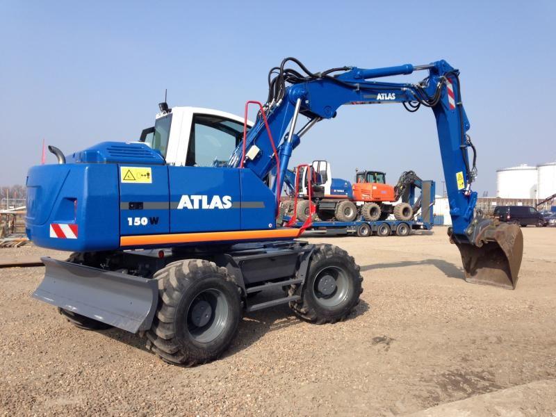 Atlas 150 W mobiele graafmachine voor Sjef Rombouts uit Hoeven