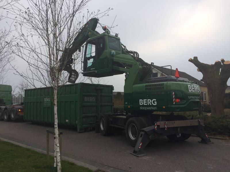 Doosan DX190W-3 overslagkraan voor Berg Sloopwerken uit Naaldwijk