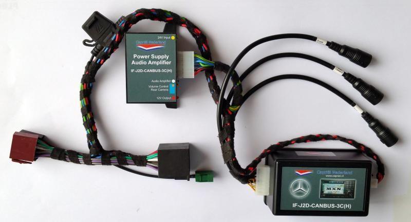 Capriël Nederland ontwikkelt een nieuwe camera-interface voor het originele Mercedes-Benz beeldscherm