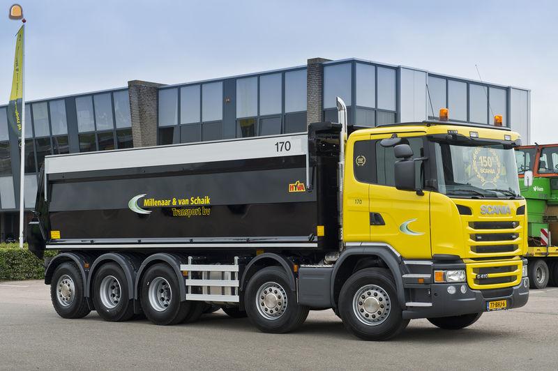 Scania G 410 SCR-only vijfassige asfalttrucks