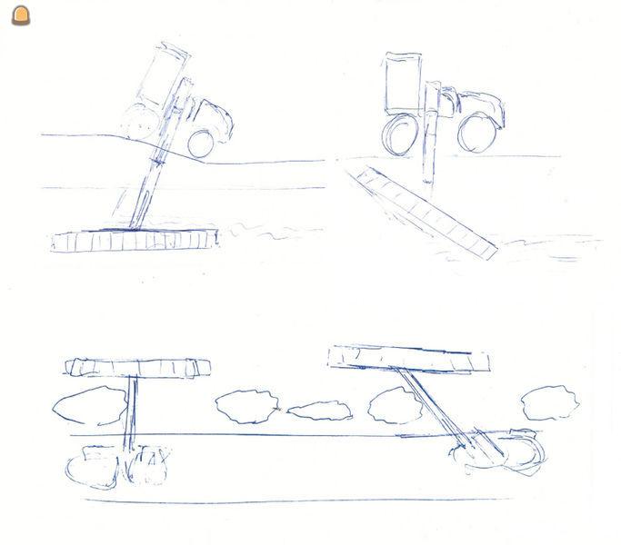 Schets van Mecalac 12MTX GreenJob en GreenJob Talud korf 90º-45º