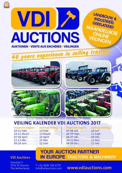 veilingkalender VDI auction