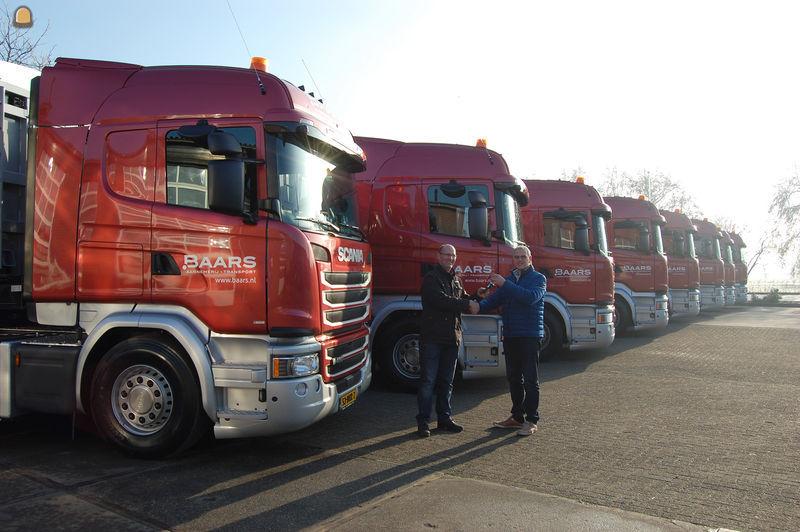 De nieuwe Scania G450 Highline Crown Editions voor Baars Transport uit Nieuwland.