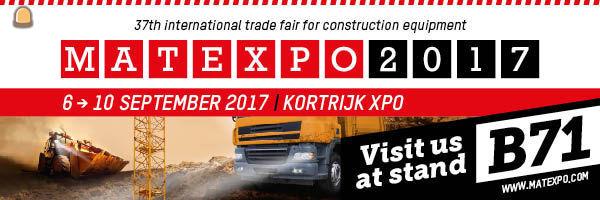 Bezoek wegenbouw.be en entreeding.com op de Matexpo in Kortrijk