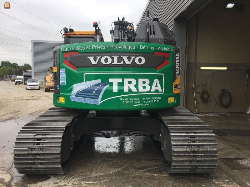 TRBA heeft zijn machinepark uitgebreid met een Volvo rupskraan, type ECR355E