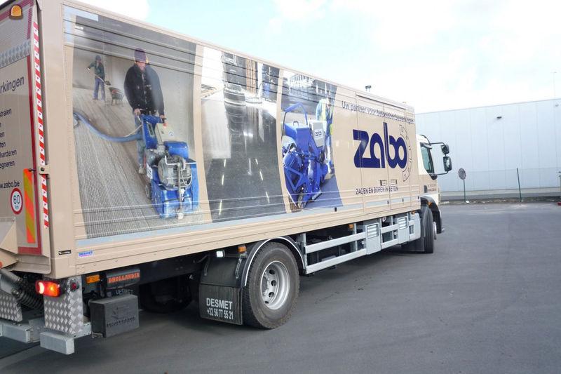 Nieuwe opvallende vrachtwagen van ZABO