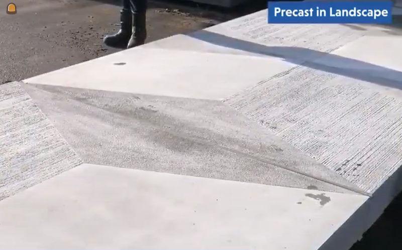 Eurodal produceerde unieke betontegel met 3D-effect (afbeelding uit film Febe)